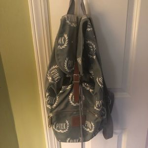 Gray adjustable backpack from VS Pink